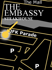 The Embassy Steakhouse location map